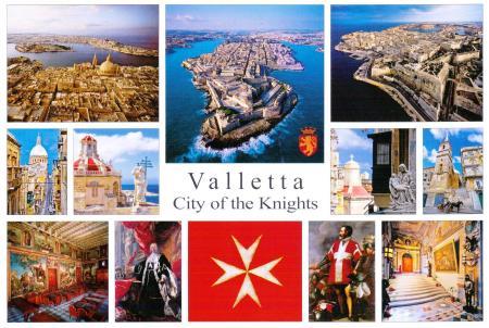 Valletta Malta postcard