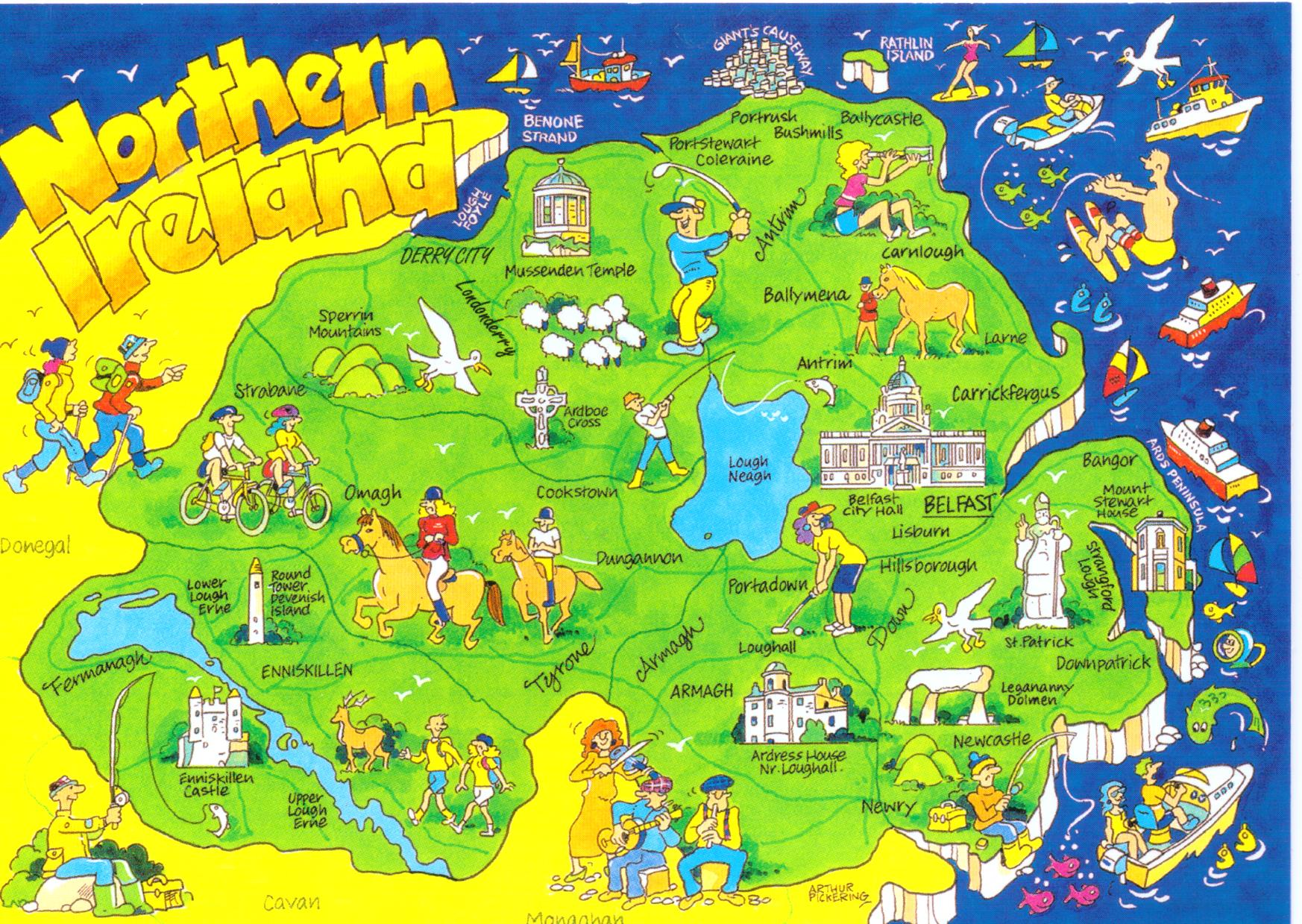 What are some facts about Northern Ireland county maps – Ireland Tourist Map