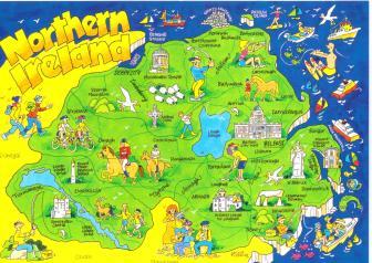 Northern Ireland Map Postcard