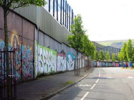 Northern Ireland Belfast Peace Line