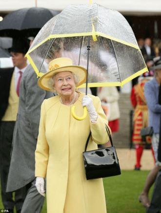 Queen Elizabeth with Umbrella