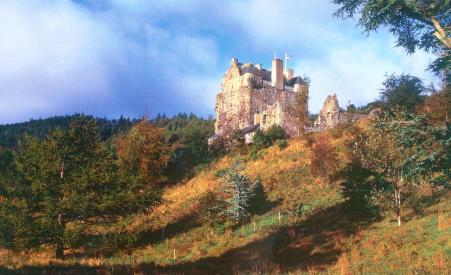 Neidpath Castle Peebles Scotland