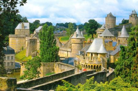 Castle of Fourgeres Brittany France
