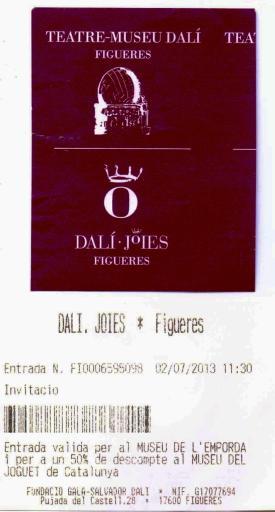 Salvador dali Museum Entrance Ticket