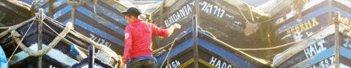 Fisherman Essaouira Blue Boats