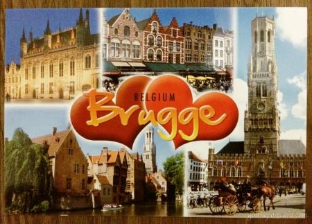 I Love Bruges Postcard