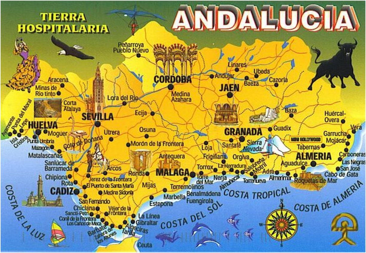 Chipiona Spain Map.Travels In Spain Car Hire And Trouble With Maps Have Bag Will Travel