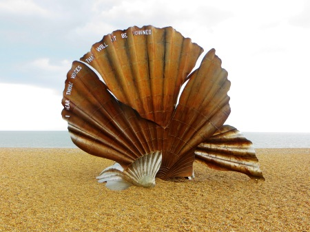 Aldeburgh Suffolk Beach Scallop Sculpture