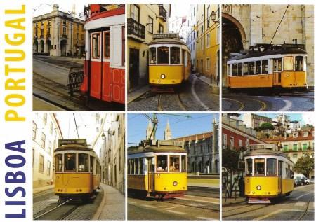 Lisbon Lisboa postcard Trms