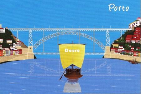 Porto Douro Postcard
