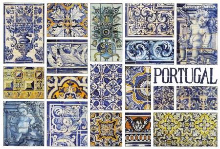 Portugal Tiles Postcard