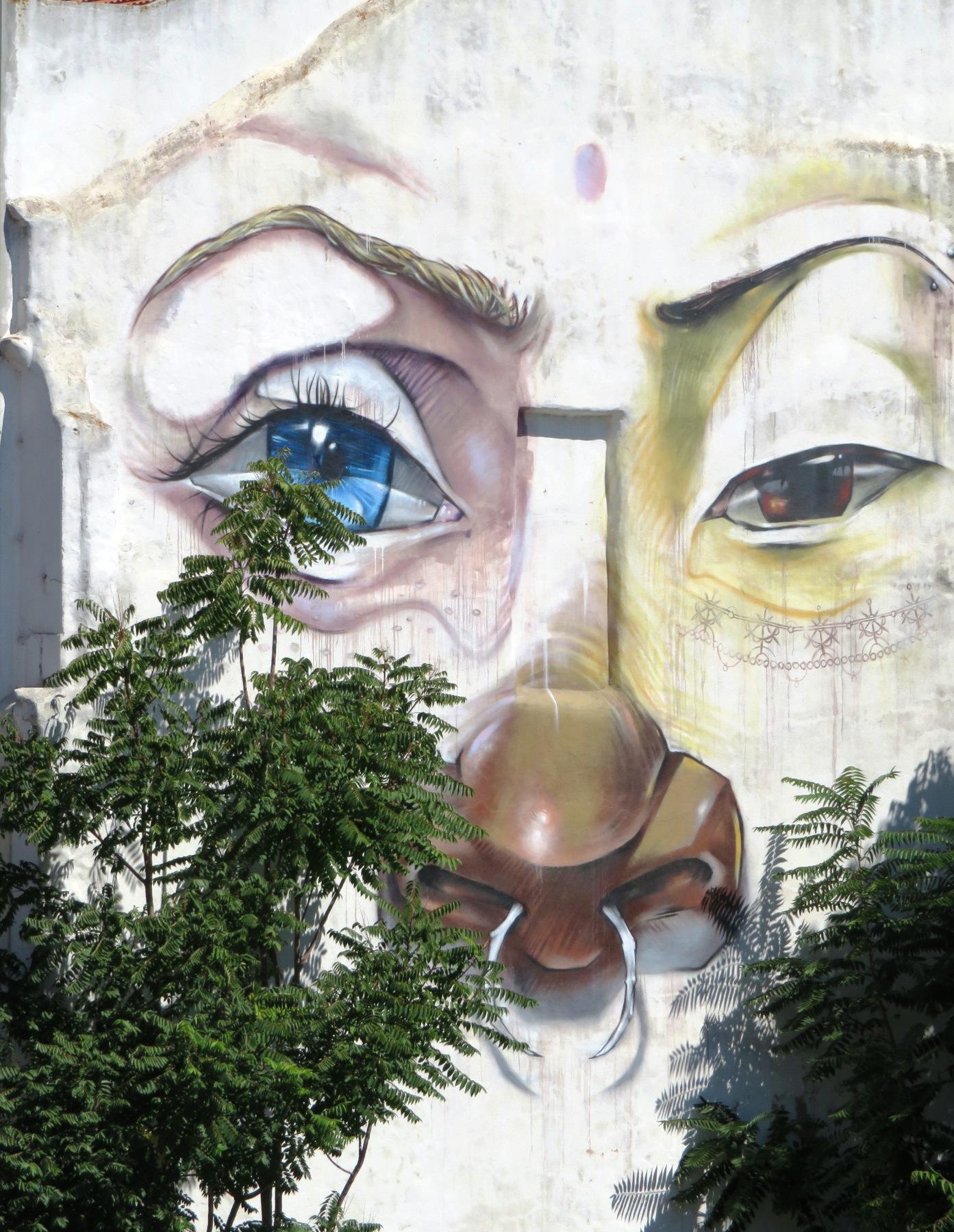 Lisbon wall painting urban art
