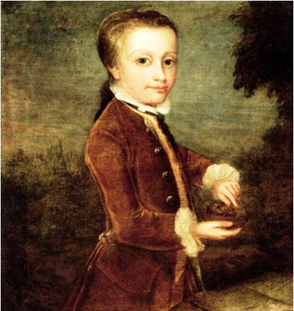 Young Mozart with Bird's Nest