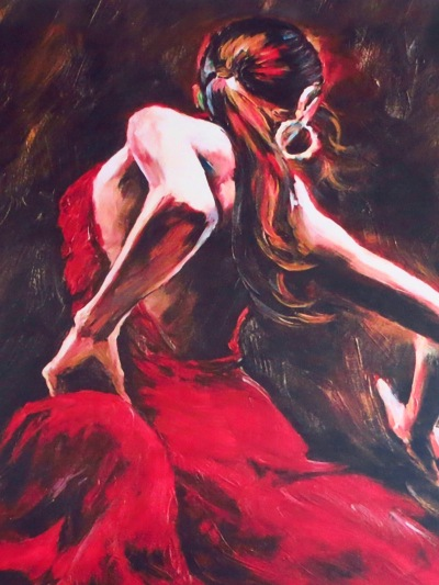 Flamenco Wall Painting