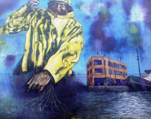 Fishing Mural Hull