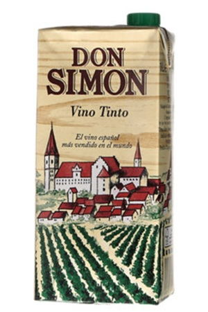 Don Simon wine in a carton