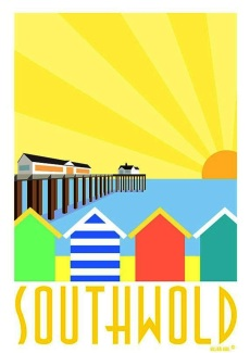 Southwold Sunset Poster
