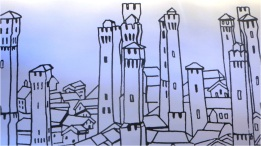Bologna Towers Mural