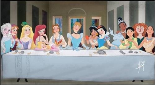 Last Supper Disney Princesses