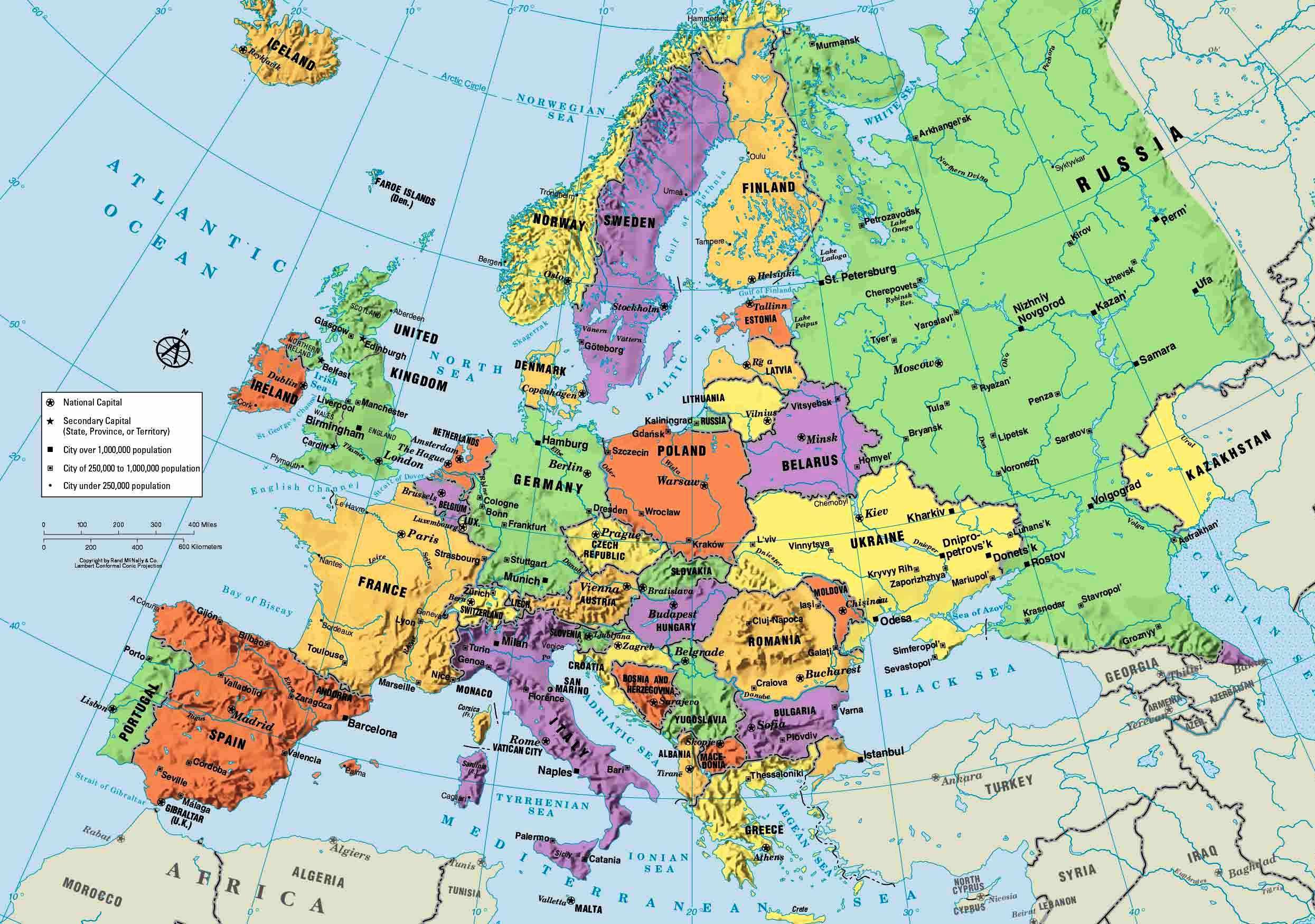 карта европы и россии - 14