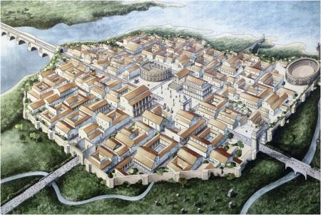 Roman Rimini Street Plan