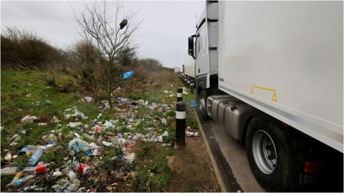 truckers rubbish