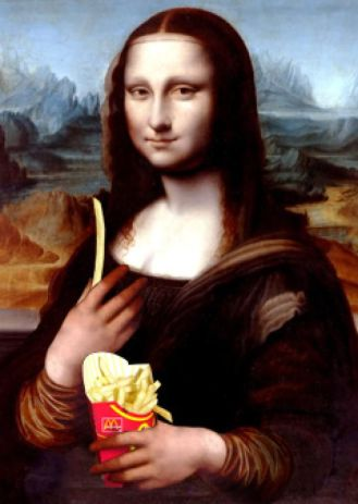 Mona Lisa with Fries