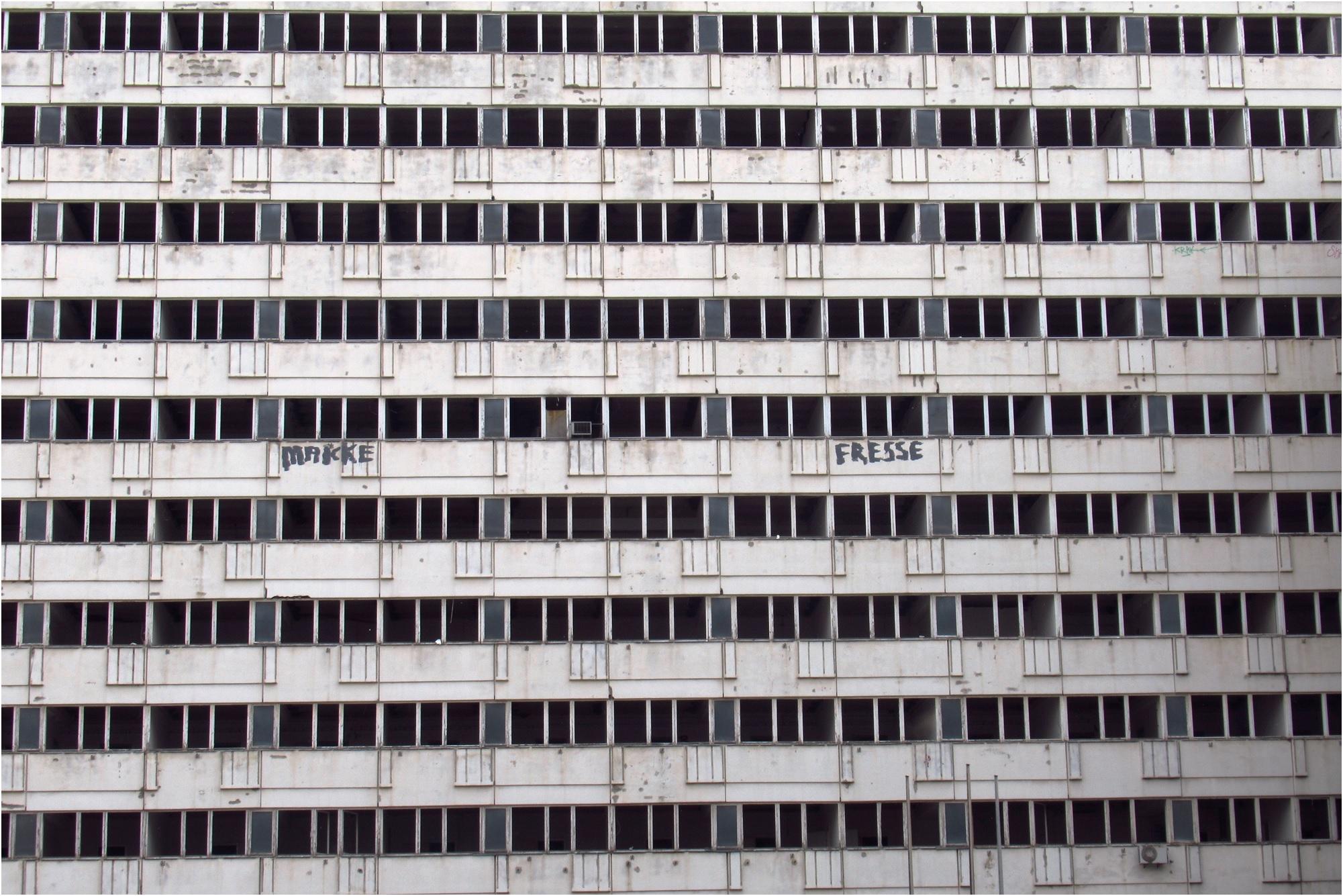 Alexanderplatz derelict flats