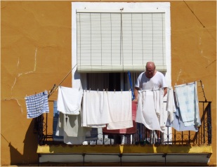 Man with Washing Line