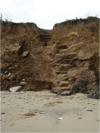Skipsea Beach Steps