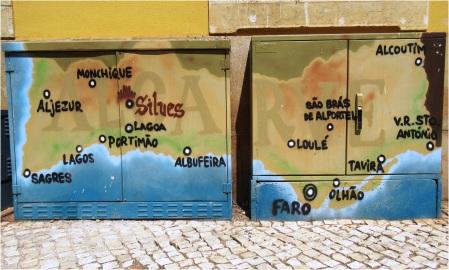 Algarve Map Silves Electricity Boxes