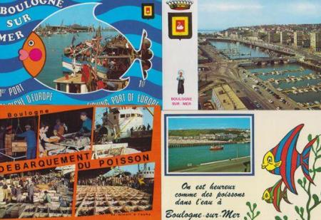 Boulogne Fish Market Postcard